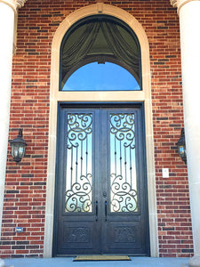 double door with transom 11