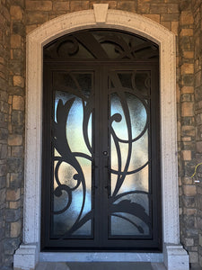 double door with transom 014