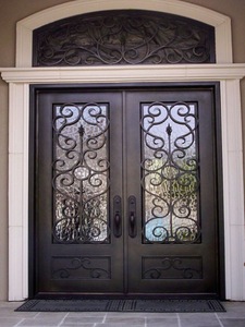 double door with transom 15
