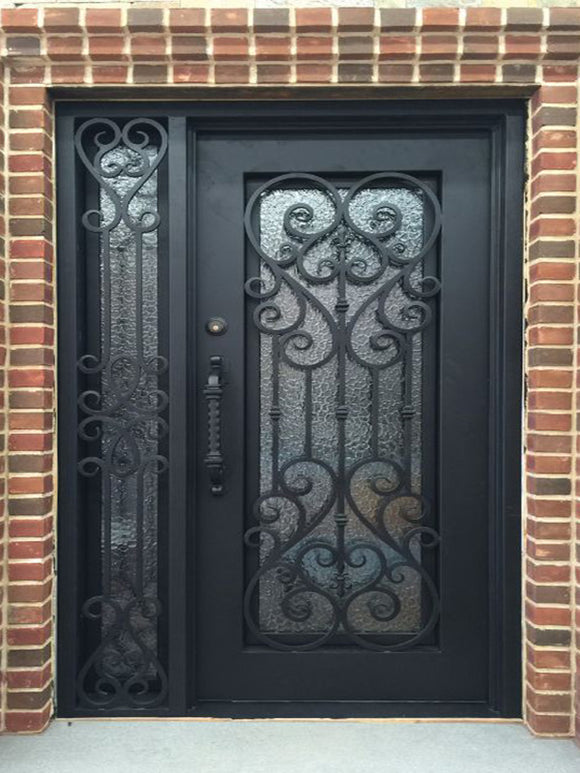 iron single door with sidelites 005