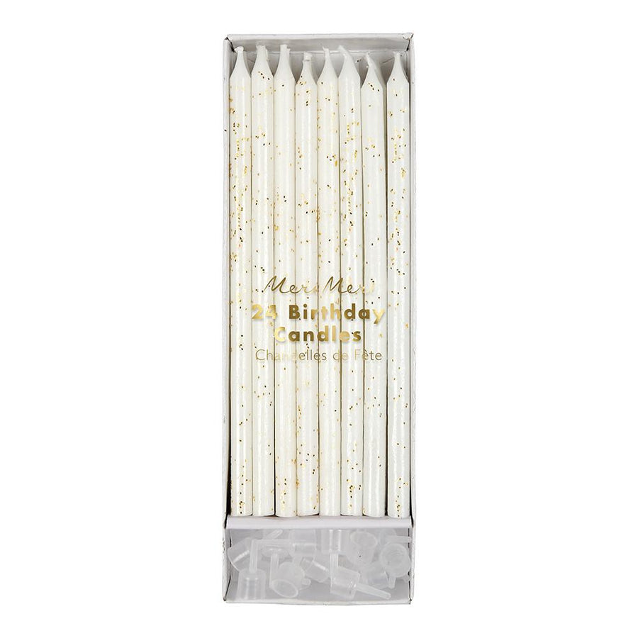 Gold Glitter Long Candles