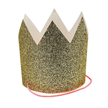 Mini Gold Glittered Crowns