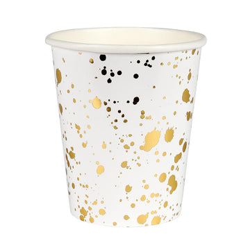 Gold Splatter Paper Cups