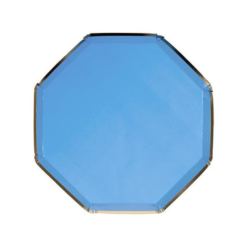 Bright Blue Paper Side Plates
