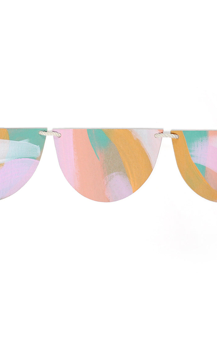 Hand Painted Peach Bunting
