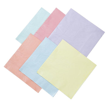 Pastel Pearlised Assorted Paper Napkins