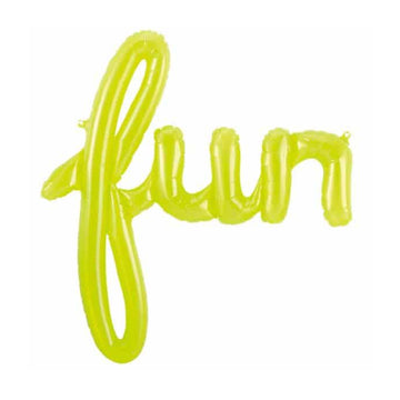 Fun Green Phrase Balloon