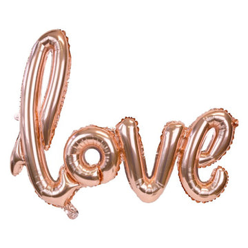 Love Rose Gold Phrase Balloon