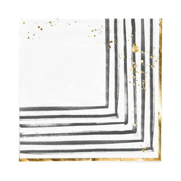 REBELLE - BLACK AND WHITE LARGE PAPER NAPKIN