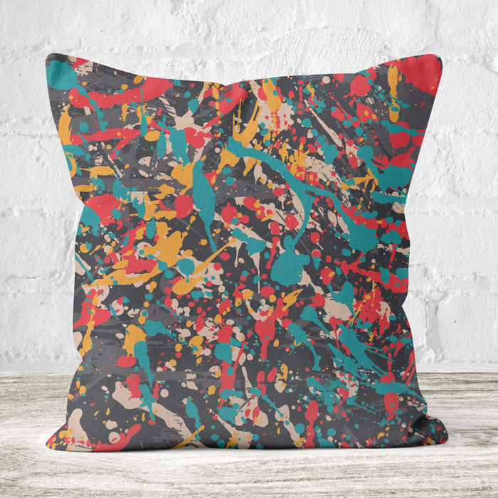 Faux Suede Throw Cushion Single Sided Print