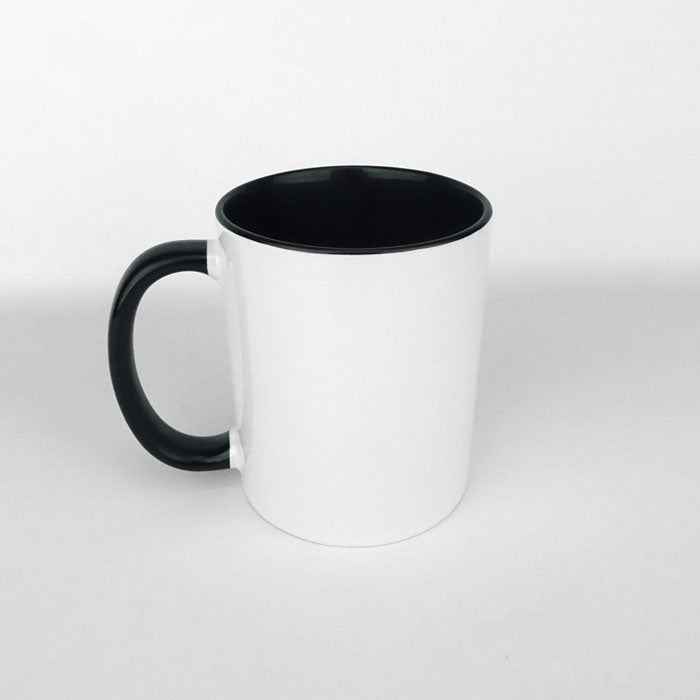 Two Tone 11oz Ceramic Mug - Black
