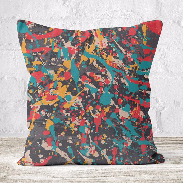 Faux Suede Throw Cushion Double Sided Print