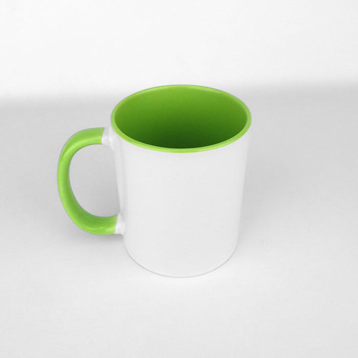 Two Tone 11oz Ceramic Mug - Green