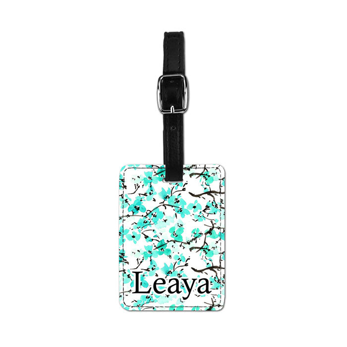 Faux Leather Printed Luggage Tag