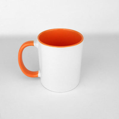 Two Tone 11oz Ceramic Mug - Orange