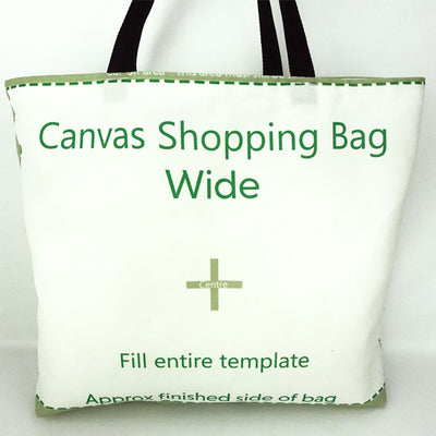 Poly Canvas Shopping Bag 42 x 49 cm All Over Print