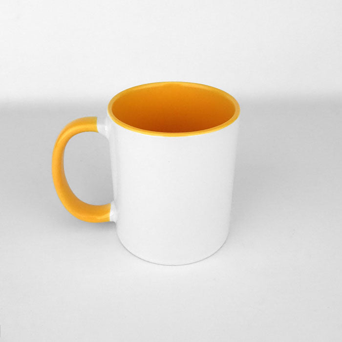 Two Tone 11oz Ceramic Mug - Yellow