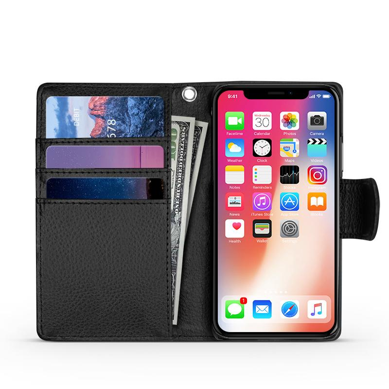 iPhone X / XS Wallet Case with C/C Slots