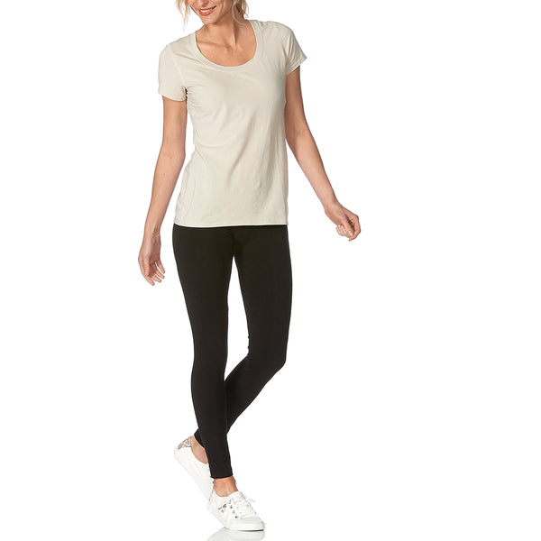 HUE Ultra Skimmer Leggings with Wide Waistband
