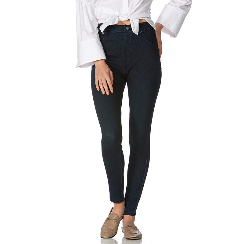 HUE Curvy Ultra Soft High Waist Denim Leggings