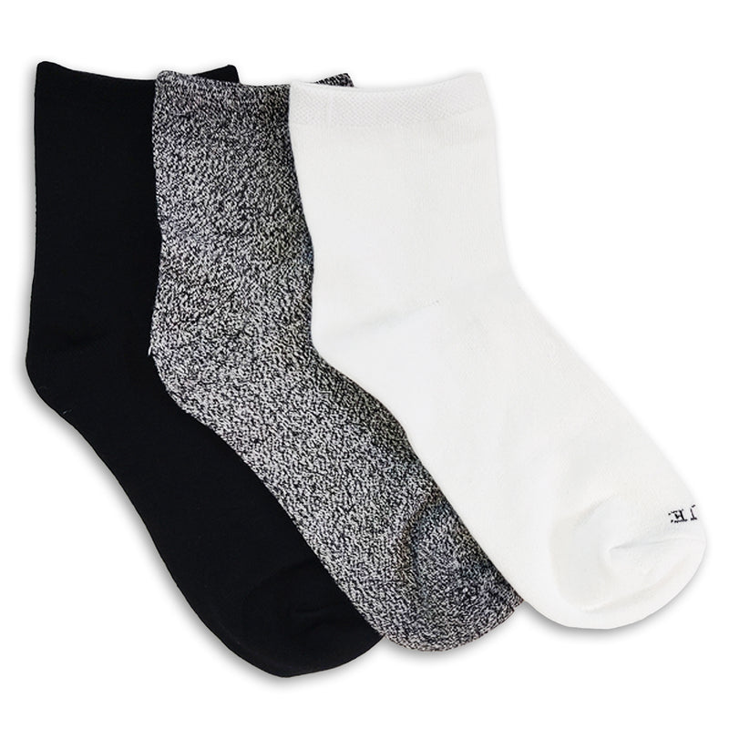 HUE Super Soft Cropped Sock 3 Pair Pack