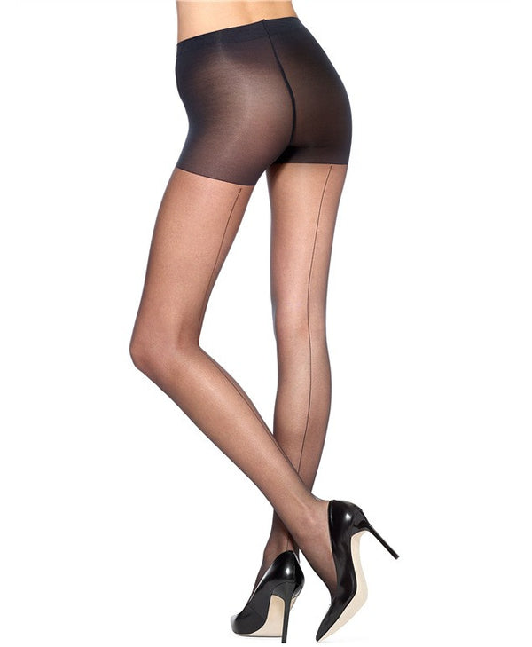HUE So Sexy Backseam Control Top Pantyhose