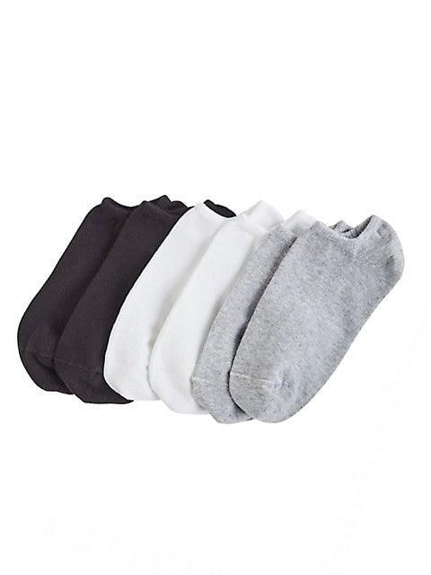 HUE Cotton Liner Sport Socks - 6 pair pack