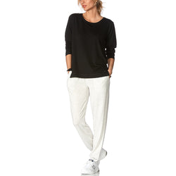 HUE Solid Cuffed Lounge Pants with Pockets