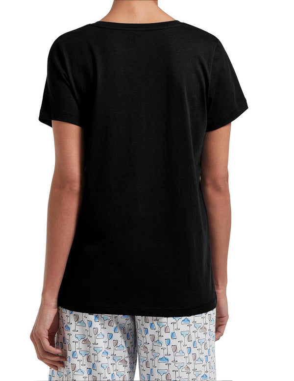 HUE Short Sleeve V-Neck Sleep Tee