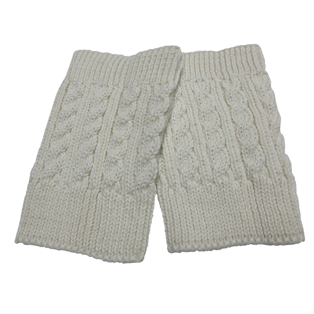 Alpaca, Alpaca Boot Cuffs, Cable Knit Alpaca Blend (BC103), White, Alpaca Products, Hypoallergenic, Apparel, Alpaca Clothing