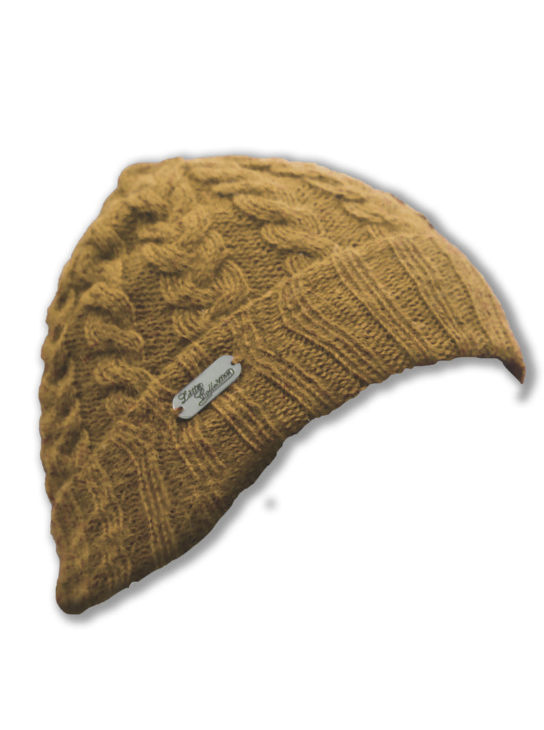 Alpaca, Alpaca Hats, Baby Alpaca Fleece Hand-knitted Braided Stitch Hats (ELH267), Alpaca Products, Hypoallergenic, Apparel, Alpaca Clothing