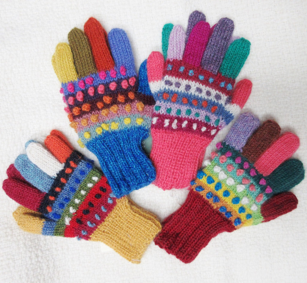 Alpaca, Alpaca Gloves, Children's Gloves, Hand-knitted with Baby Alpaca (CHG104), Alpaca Products, Hypoallergenic, Apparel, Alpaca Clothing