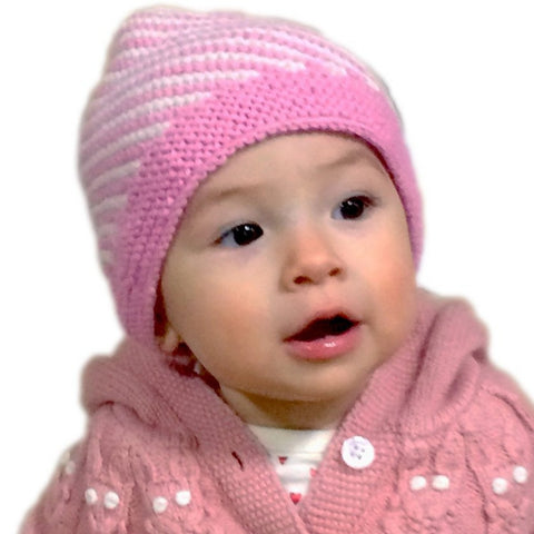 Diagonal Stripe Baby Hat (2 Colors BBH216)