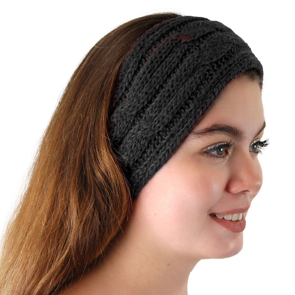 Alpaca, Alpaca Headband, Knitted Cable Design Headband, Hypoallergenic, Black, Alpaca Products, Apparel, Alpaca Clothing