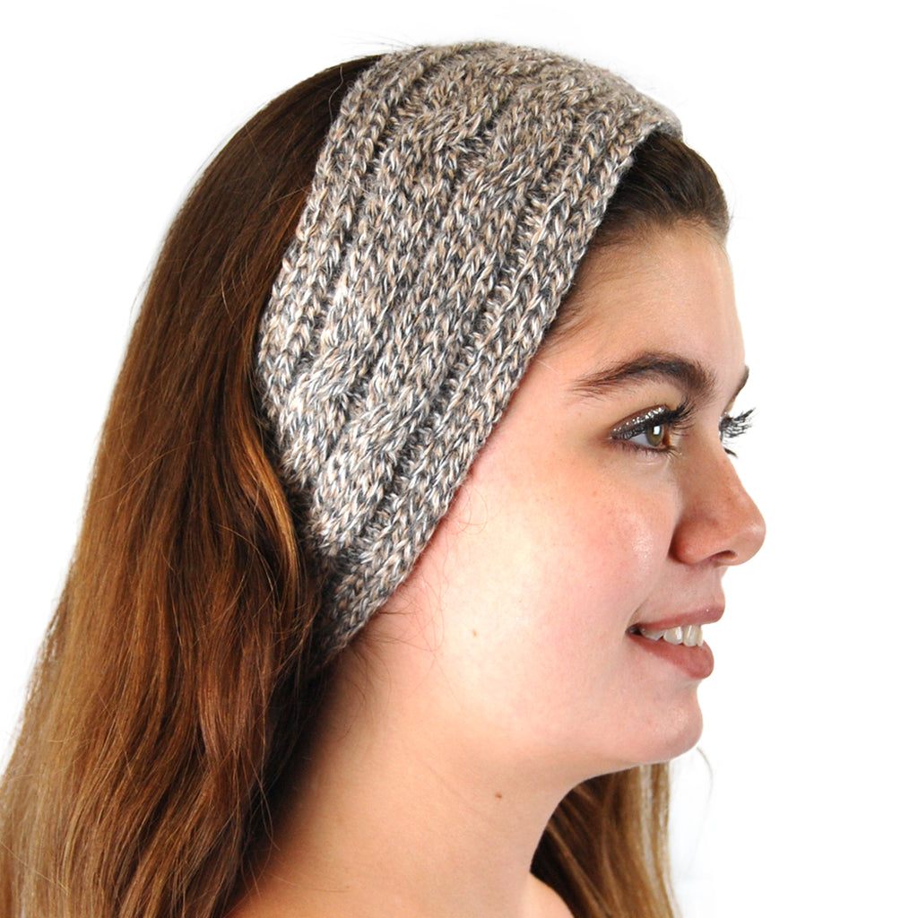 Alpaca, Alpaca Headband, Knitted Cable Design Headband, Hypoallergenic, Granite, Alpaca Products, Apparel, Alpaca Clothing