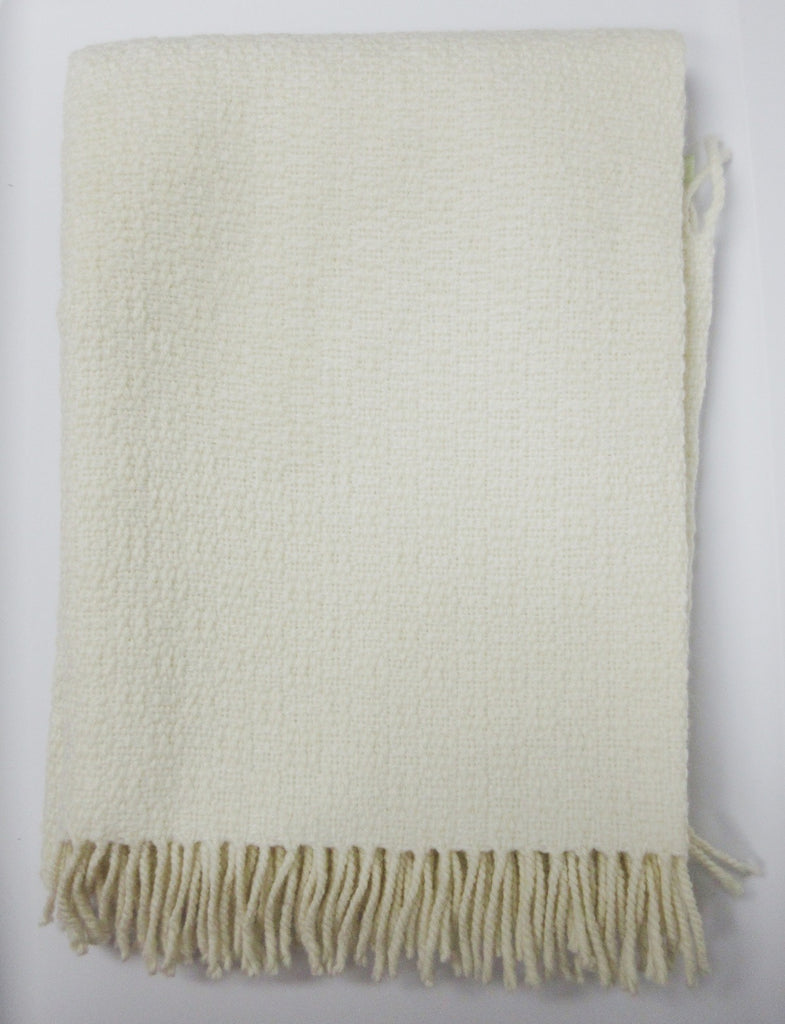 Alpaca, Alpaca Blanket, Baby Blanket Hand Woven (BB211), Off White, Alpaca Products, Hypoallergenic, Apparel, Alpaca Clothing