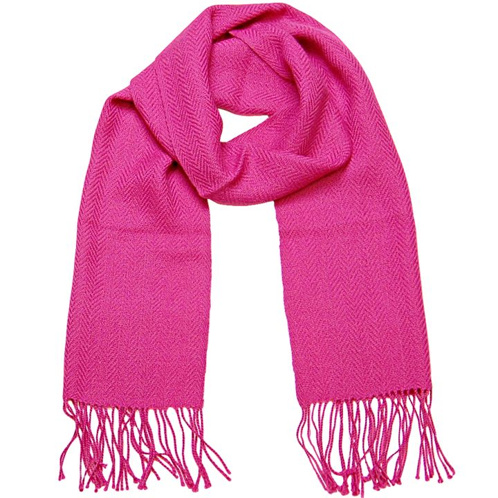 Alpaca, Alpaca Scarf, Baby Alpaca Fleece, Handwoven Scarf Solid Colors (JUL121), Fuchsia, Alpaca Products, Hypoallergenic, Apparel, Alpaca Clothing