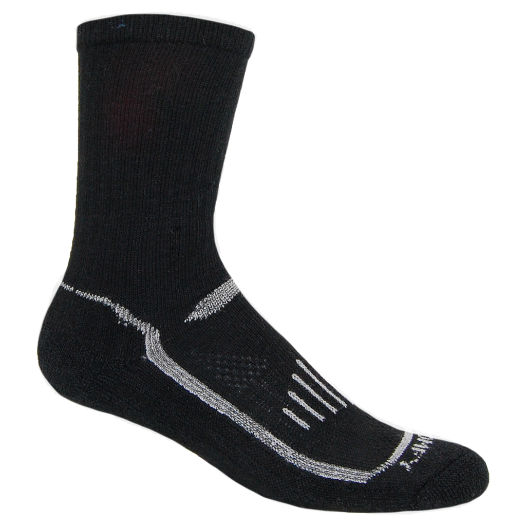 Alpaca, Alpaca Socks, Hiking Alpaca Blend Extreme Sport Crew Length Sock (LC226), Black-Gray, Alpaca Products, Hypoallergenic, Apparel, Alpaca Clothing