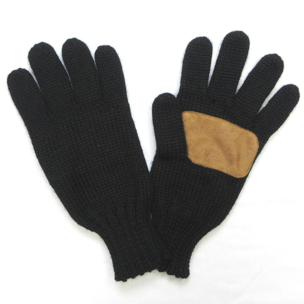 Alpaca, Alpaca Gloves, Heavy Duty Alpaca Blend Full Finger Work Gloves with Faux Leather, Black (WG103), Alpaca Products, Hypoallergenic, Apparel, Alpaca Clothing