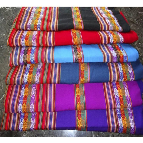 Folkloric Blanket or Table Cover (5 Colors, 2 Sizes)