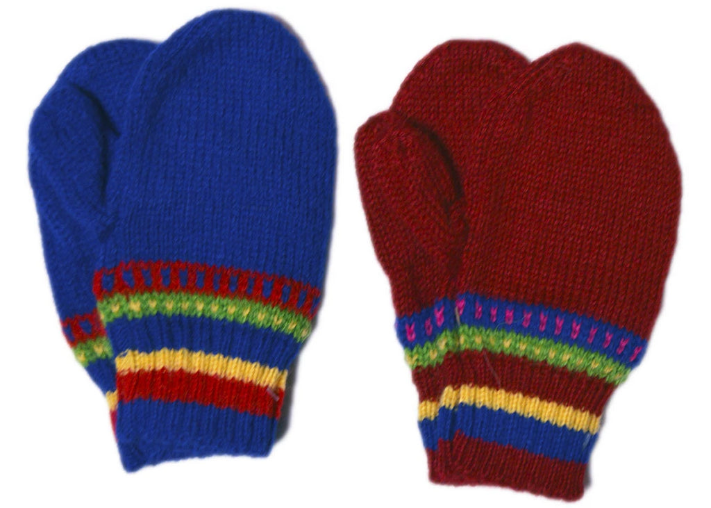 Mittens Hand Knitted Toddler (CHG103)