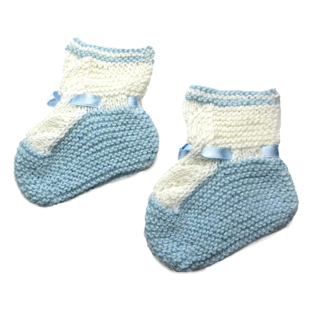 Alpaca, Alpaca Baby Booties, Hand-Knitted Lace Design Baby Booties (BB212), Blue, Alpaca Products, Hypoallergenic, Apparel, Alpaca Clothing