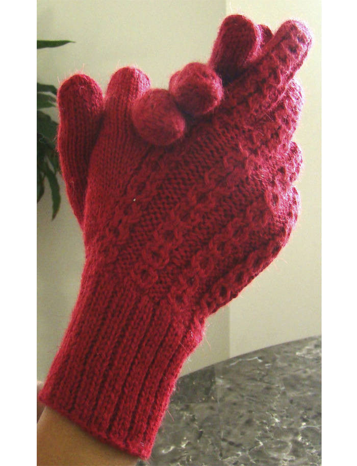 Alpaca, Alpaca Gloves, Baby Alpaca Fleece Hand-knitted Braided stitch Gloves (ELI265), Alpaca Products, Hypoallergenic, Apparel, Alpaca Clothing