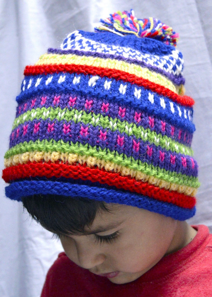 Alpaca, Alpaca Hats, Children's Hats Geometric Designs (CH100), Alpaca Products, Hypoallergenic, Apparel, Alpaca Clothing