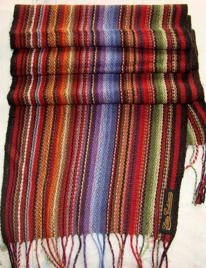 Alpaca, Alpaca Scarf, Baby Alpaca Fleece, Handwoven Scarf Rainbow (JUL125), Alpaca Products, Hypoallergenic, Apparel, Alpaca Clothing