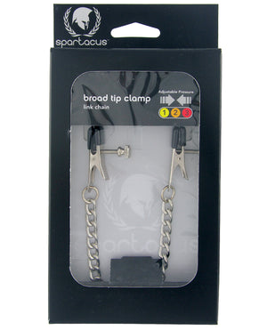 Spartacus Adjustable Broad Tip Nipple Clamps w/Link Chain