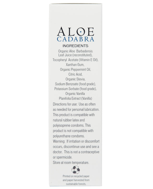 Aloe Cadabra Organic Lubricant - 2.5 oz Peppermint Tingle