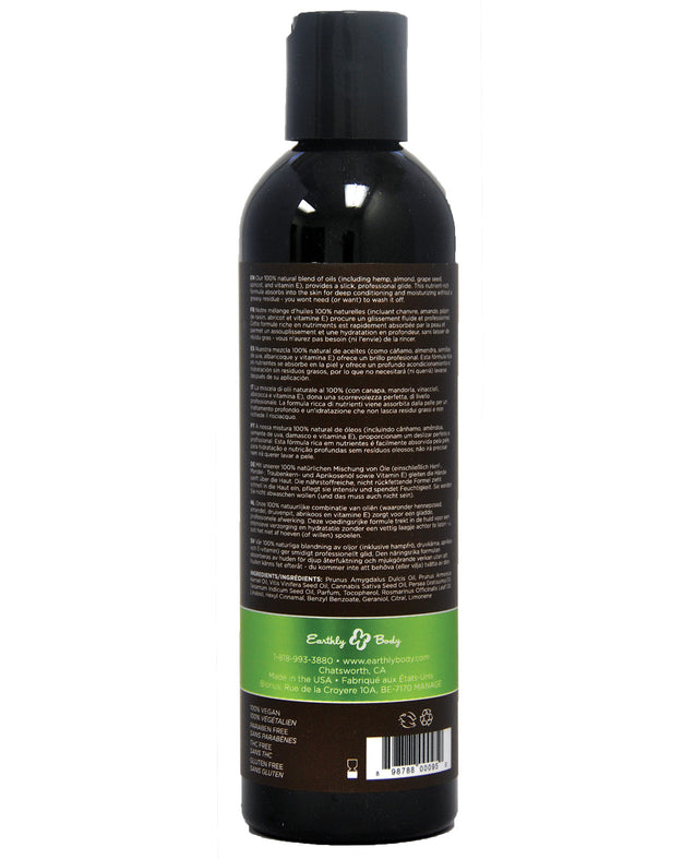 Earthly Body Massage & Body Oil - 8 oz Naked in the Woods