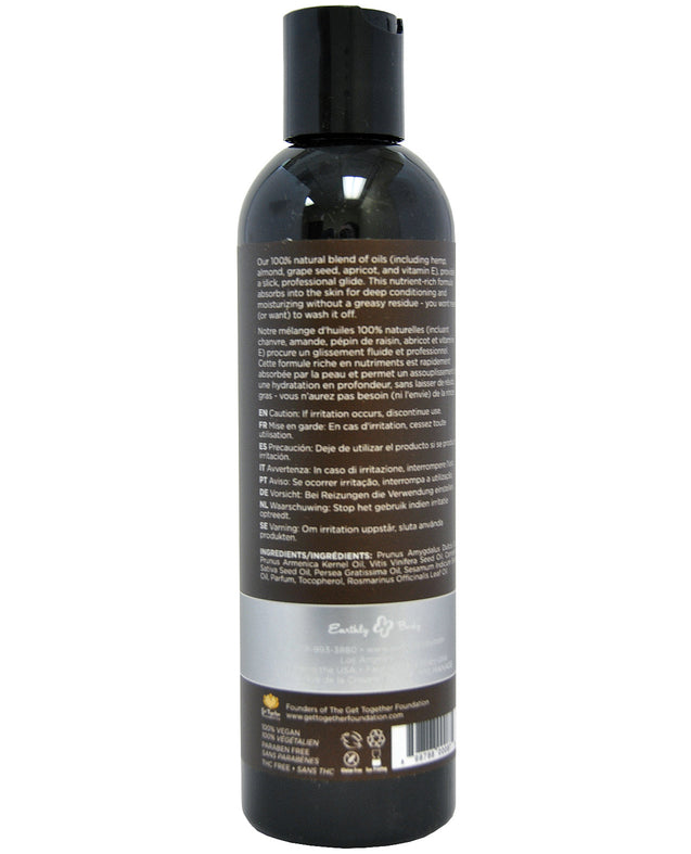 Earthly Body Massage & Body Oil - 8 oz Unscented