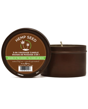 Earthly Body Suntouched Hemp Candle - 6.8 oz Round Tin Naked in the Woods